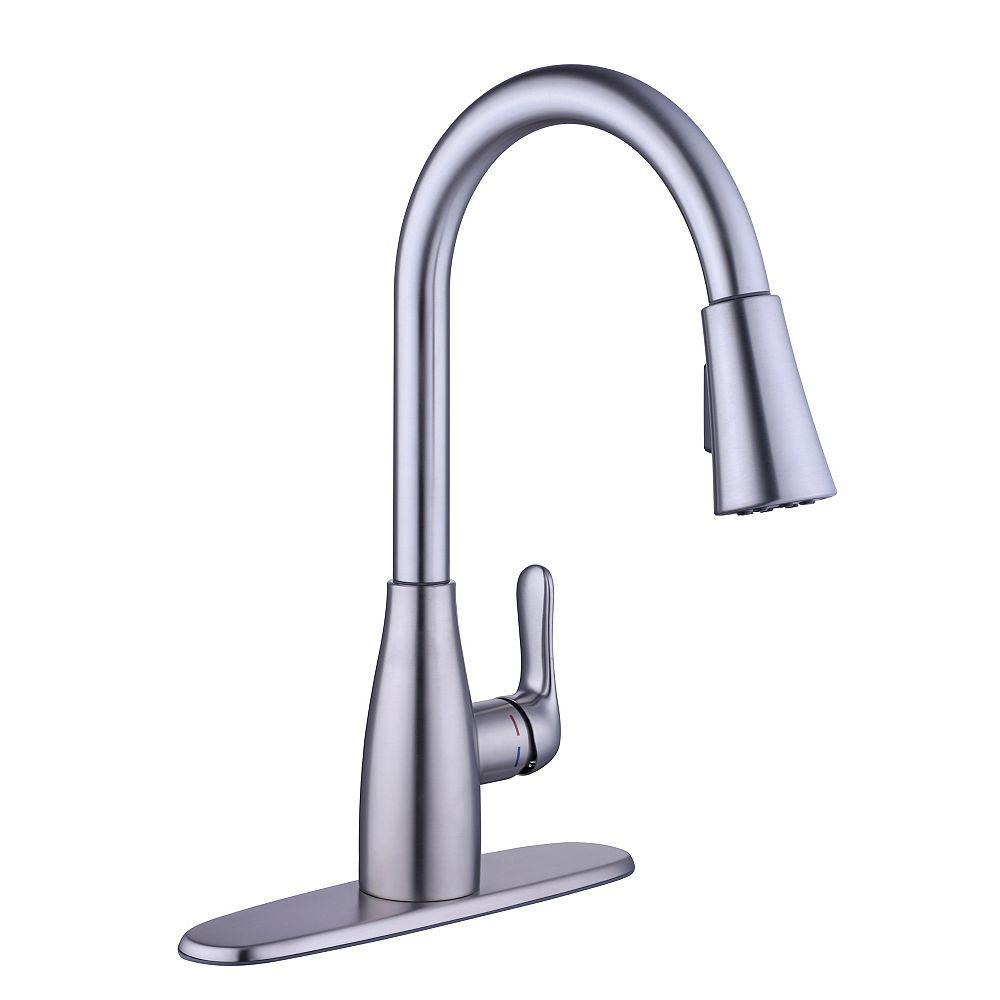 Glacier Bay McKenna Single-Handle Pull-Down Kitchen Faucet Sprayer in Stainless Steel