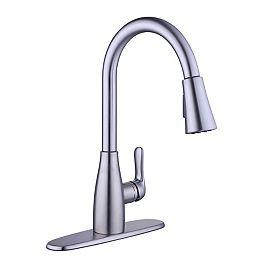 McKenna Single-Handle Pull-Down Kitchen Faucet Sprayer in Stainless Steel