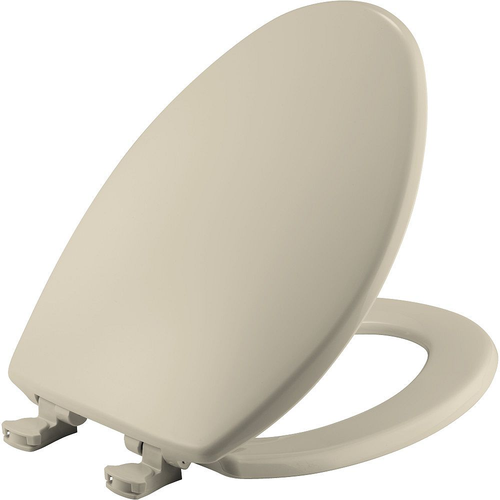 Bemis Easy Clean Elongated Closed Front Toilet Seat in Bone