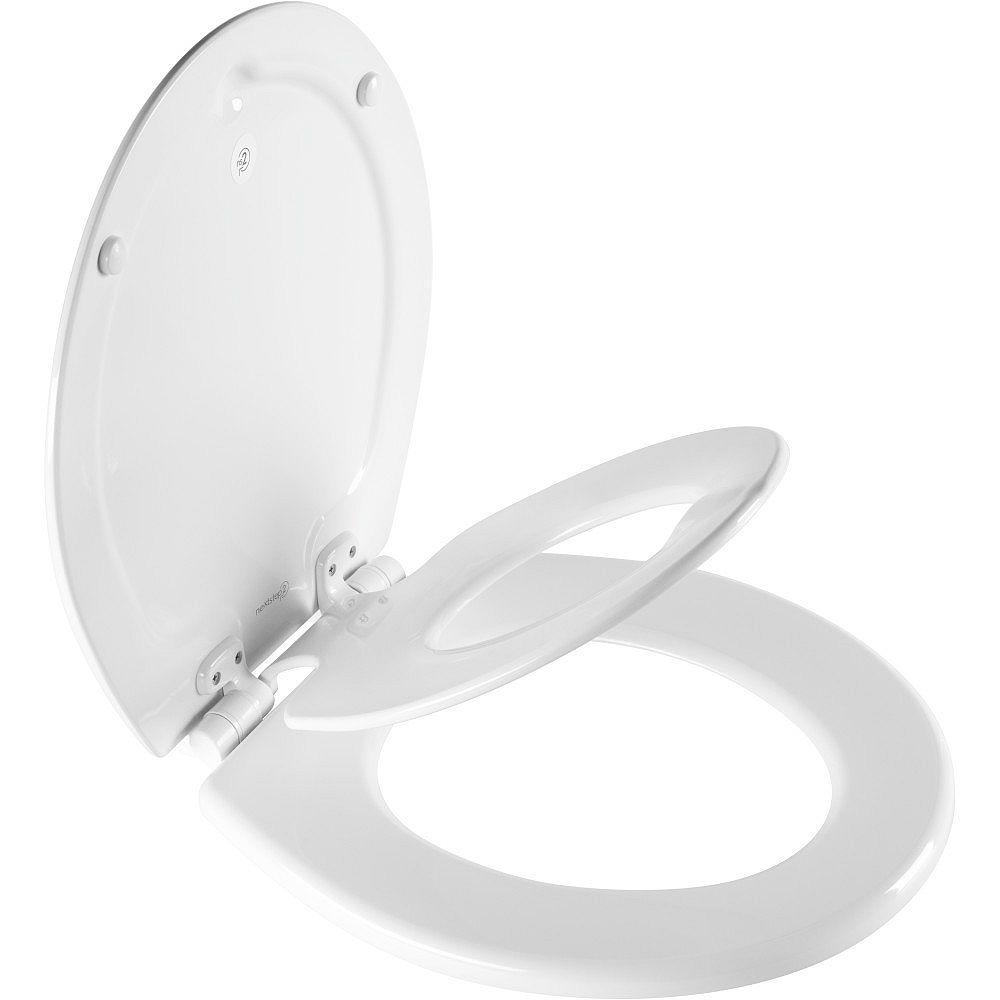 Bemis Siège de Toilette Pour Enfants Rond à Avant Fermé NextStep2 en Blanc