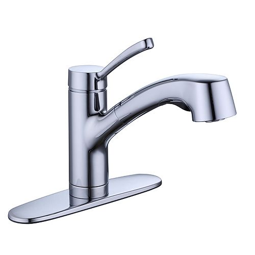 McKenna Single-Handle Pull-Out Sprayer Kitchen Faucet in Chrome