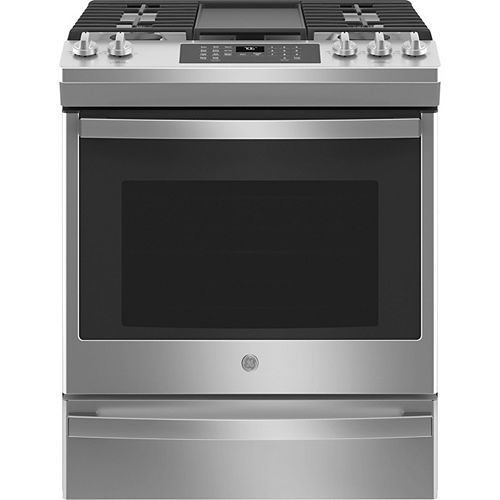 30-inch Slide-In Convection Gas Range with No Preheat Air Fry in Stainless Steel
