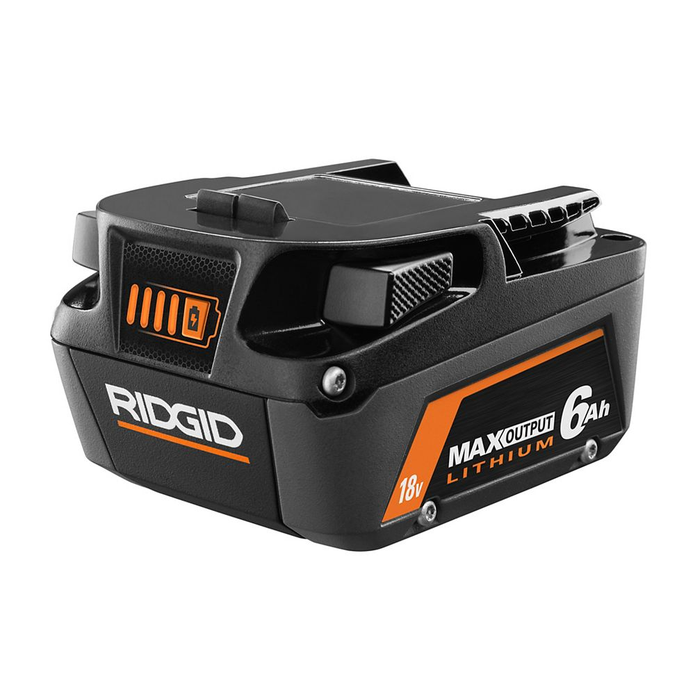 RIDGID 18V 6.0Ah Lithium-Ion Max Output Battery