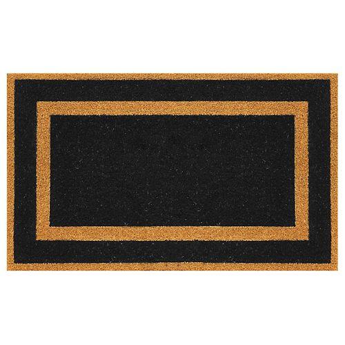 Classic Black Border 18-inch x 30-inch Coir Home Decorators Door Mat