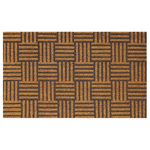 Classic Grey Parquet 18-inch x 30-inch Coir Home Decorators Door Mat