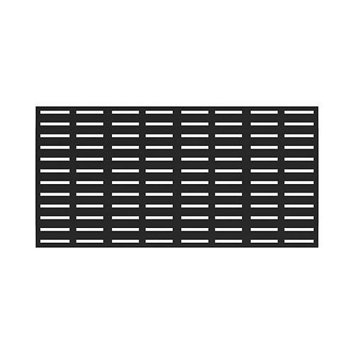 34-inch x 68-inch Decorative Boardwalk Screen Panel in Black