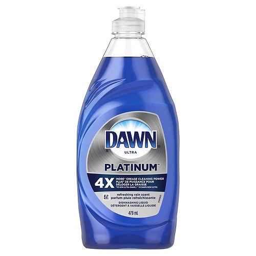 Dawn Platinum Dishwashing Liquid Dish Soap, Refreshing Rain Scent, 479 mL
