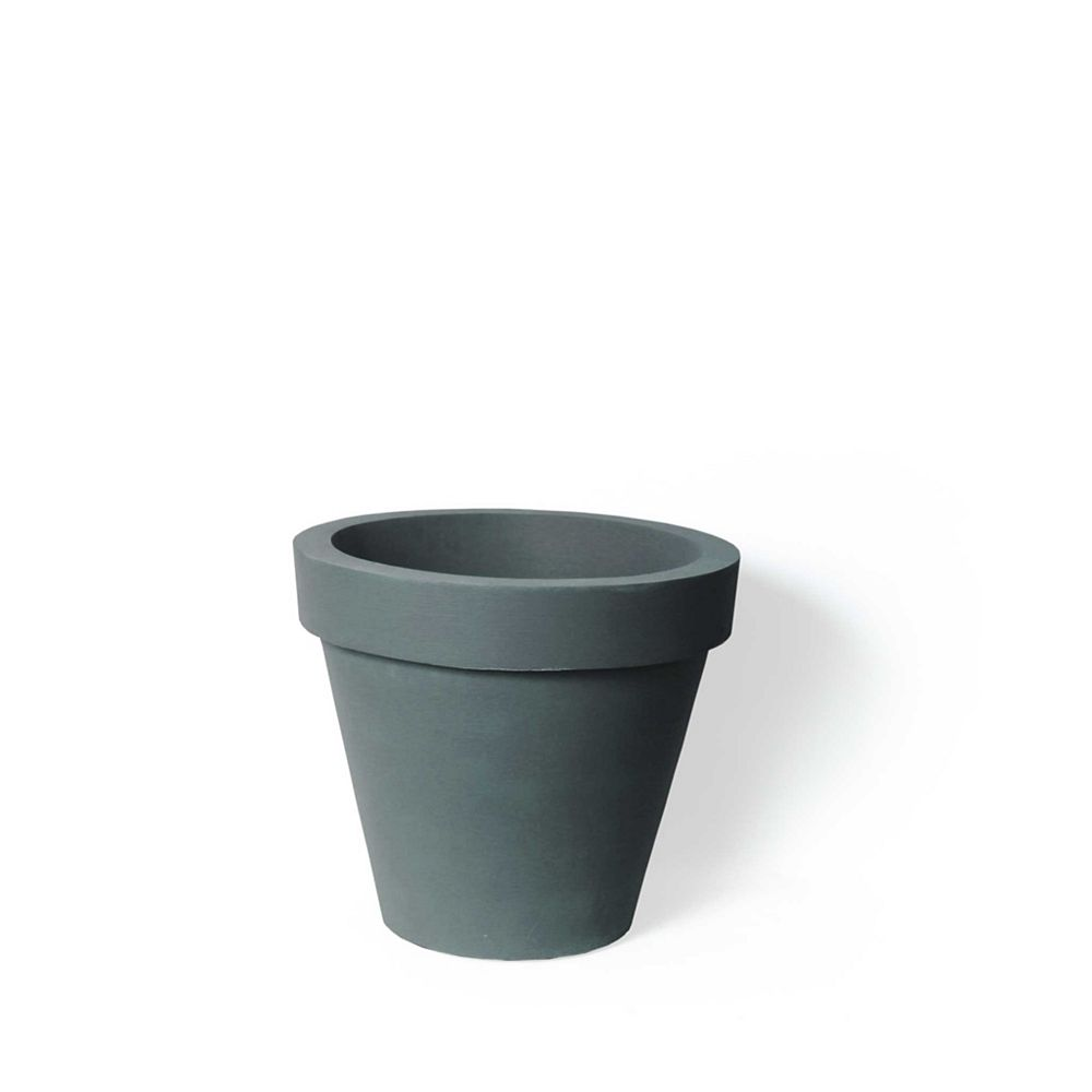 Home Depot Classico Planter, Self-Watering Planter, 16-In. Height by 14-In., Charcoalstone