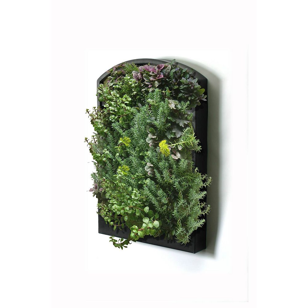 Landscape Basics GreenWall Vertical Living Wall, 100% Recycled Black
