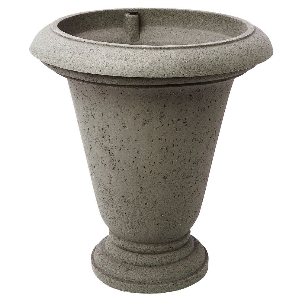 Home Depot Crete Urn 25-In. Self-watering Planter, Warm Gray