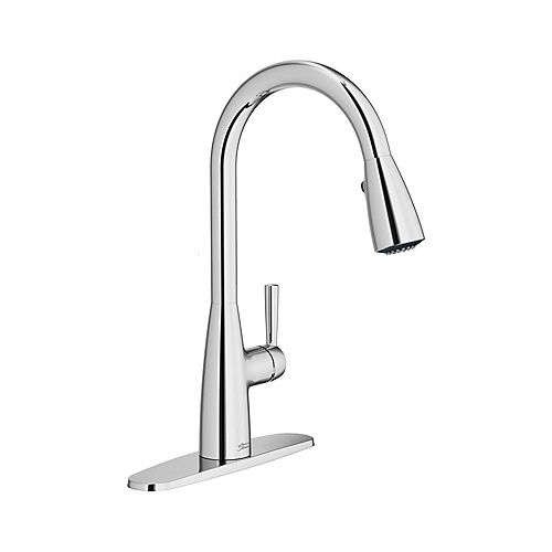Fairbury 2S Single Handle Pull-Down Dual Spray Kitchen Faucet in Polished Chrome