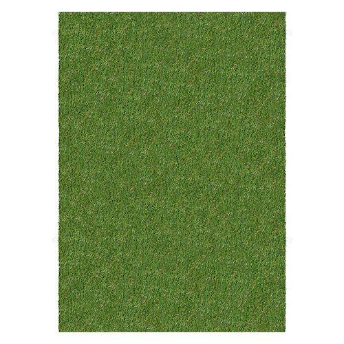 Green 4 ft. x 25 ft. Indoor/Outdoor Artificial Turg Rug