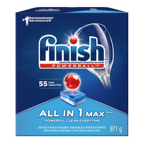 Finish Dishwasher Detergent, All In 1 Max, Fresh, 55 Tablets