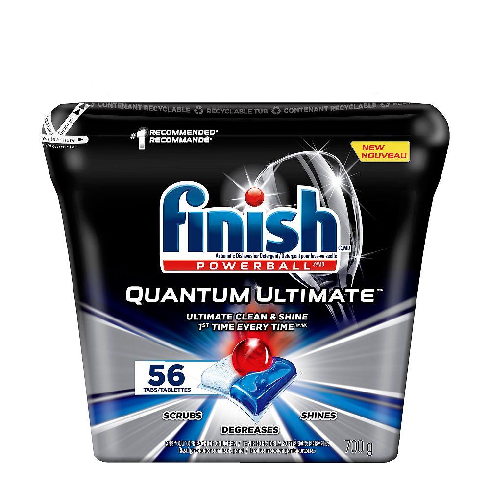 Finish Détergent pour lave-vaisselle Finish, Quantum Ultimate, frais, 56 comprimés
