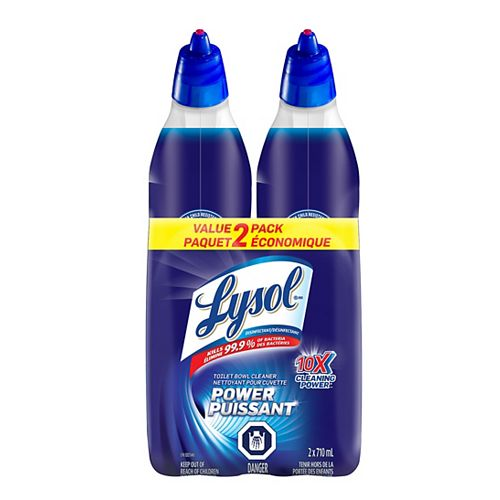 Lysol Lysol Toilet Bowl Cleaner, Power, 2X710ml, 10X Cleaning Power