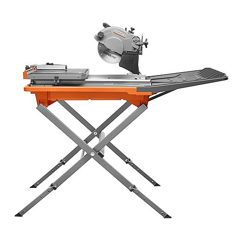 12-Amp 8-inch Tile Saw with Extended Rip Capacity and Stand