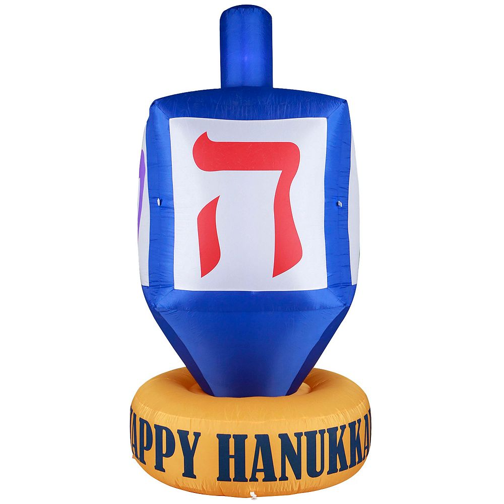 Gardenised Giant Hanukkah Inflatable Dreidel - With Built-in Bulbs, Tie-Down Points, and Powerful Built in Fan