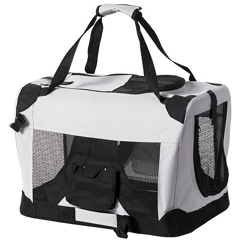 PawsMark Soft-Sided Mesh Foldable Pet Travel Carrier, Airline Approved Pet Bag for Dogs and Cats