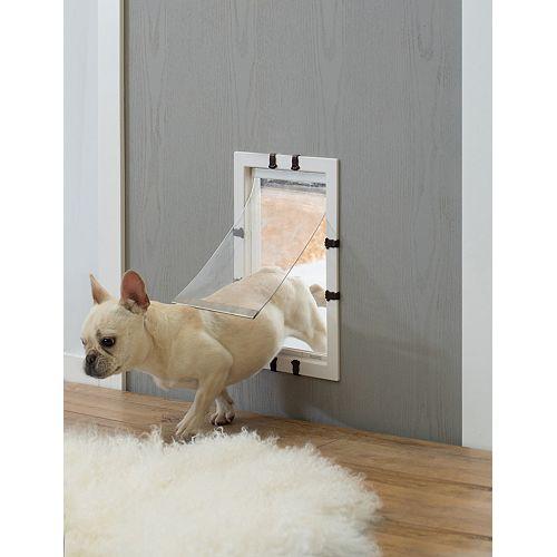 Plastic Pet Door with Soft Window Flap for Interior or Exterior
