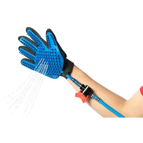 Pet Grooming Glove Washing Bathing Portable Shower Scrubber Spray with Long Hose