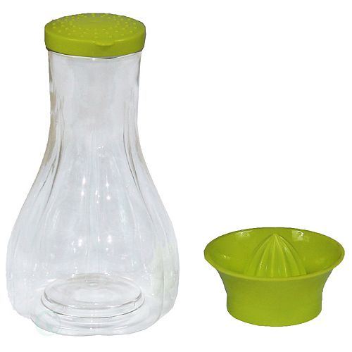 Manual Hand Citrus Juicer with Bottle and Storage Lid