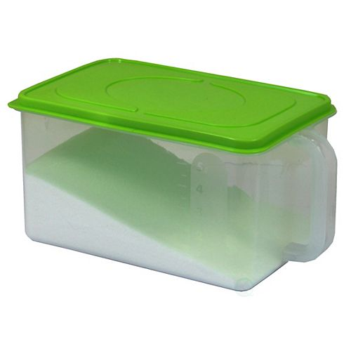 Sealed Kitchen Container with Handle, Green Lid