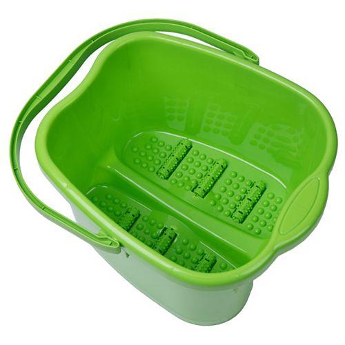 Basicwise Small Foot Massage Spa Bath Bucket