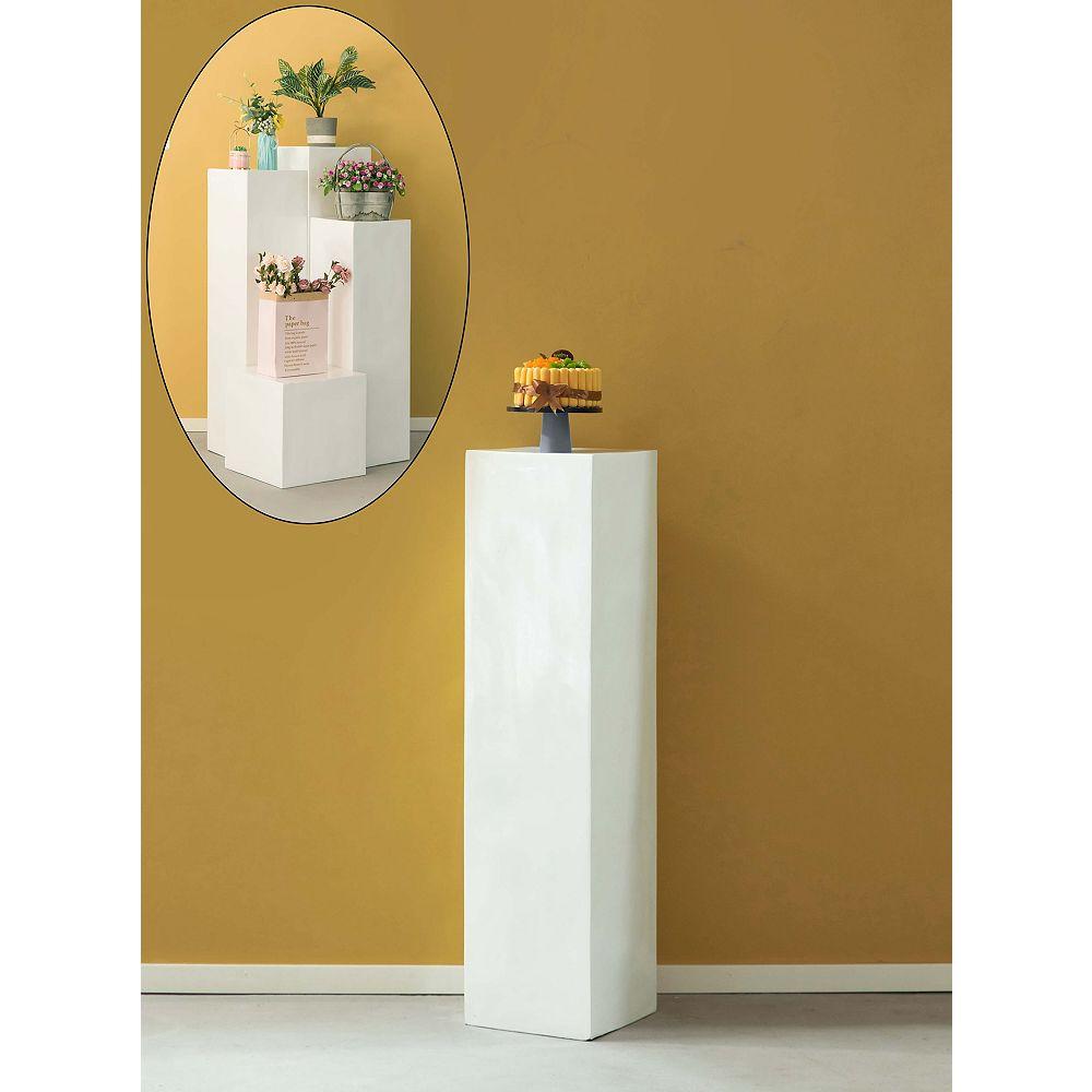 """Uniquewise Afficher Cube décoratif pilier Colonne Jardinière mariage piédestal - 12"""" W x 47,2"""" H"""