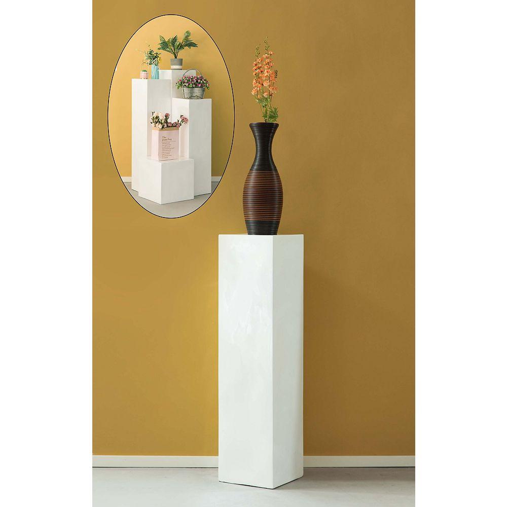 """Uniquewise Afficher Cube décoratif pilier Colonne Jardinière mariage piédestal - 13"""" W x 51.2"""" H"""
