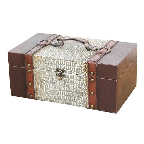 14 Inch Prince Leather Trunk, Designer Treasure Chest