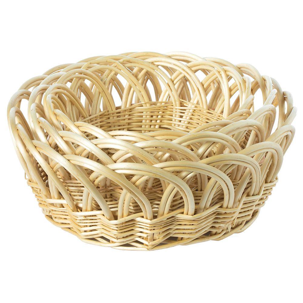 Vintiquewise Decorative Round Fruit Bowl Bread Basket Serving Tray, Set of 3