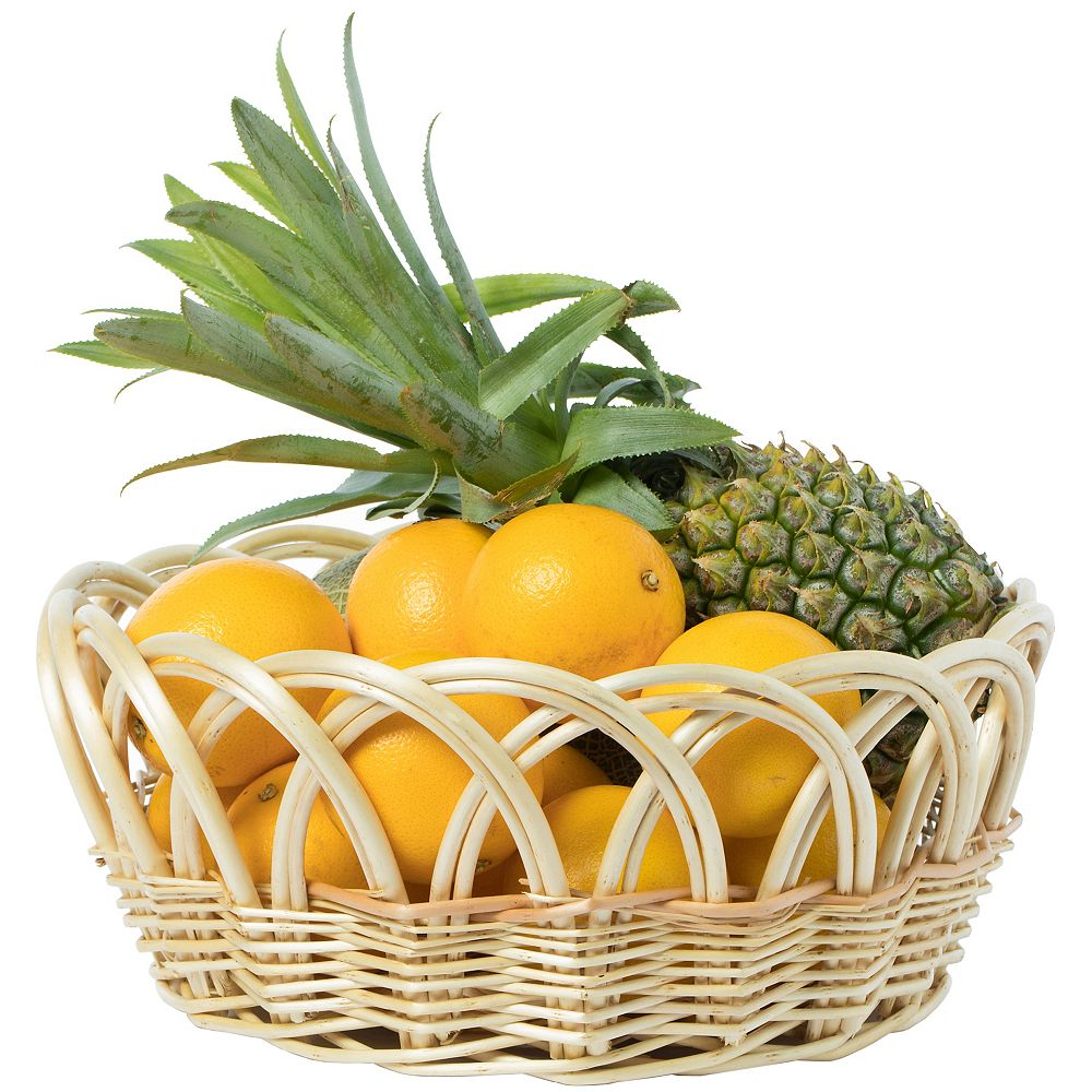 Vintiquewise 13.75- pouces ronde décorative Fruit Bowl Corbeille à pain Plateau, Medium