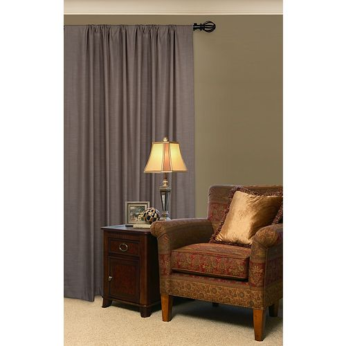 Lumi 5/8 Adjustable (48- 84) Single Curtain Rod Set with Decorative Matching ORB Cage  Finials  Lumi