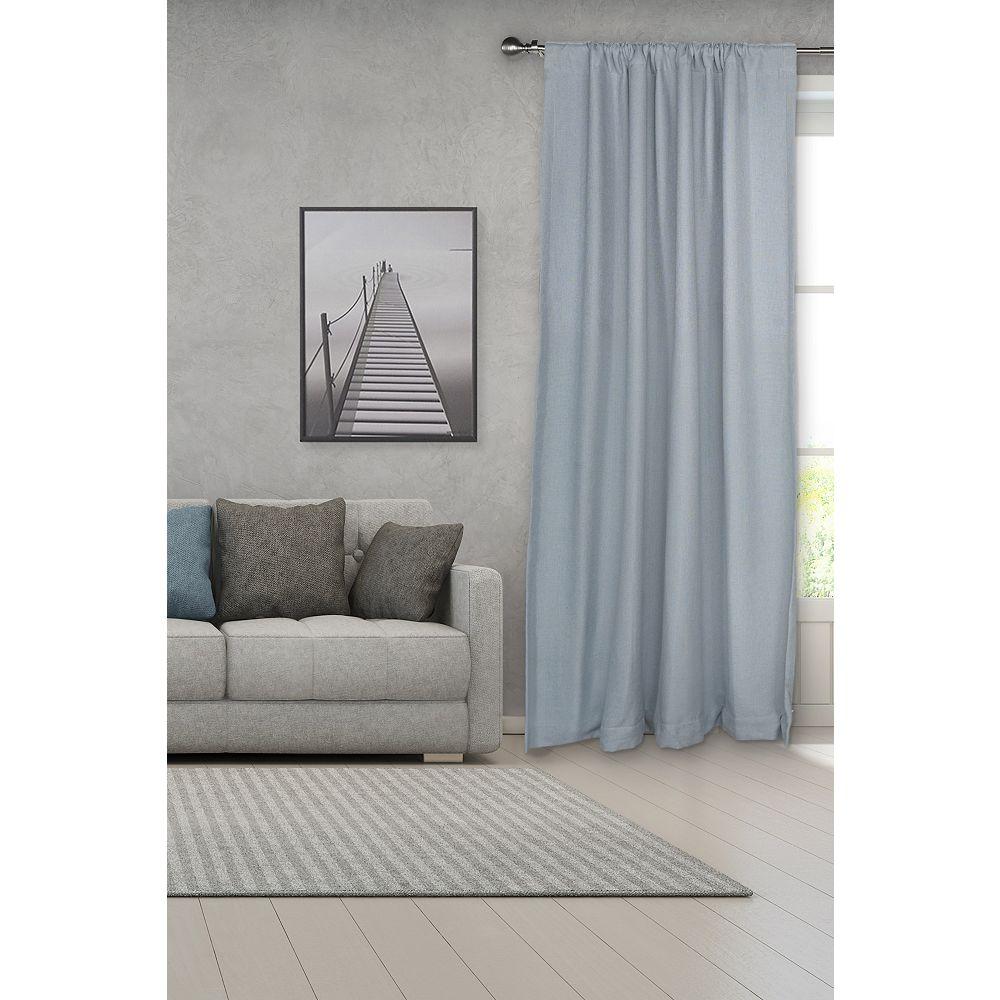"Lumi 3/4 Adjustable 36""-66 Single Curtain Rod Set with  Brushed Nickel Lined Ball Finials  Lumi"