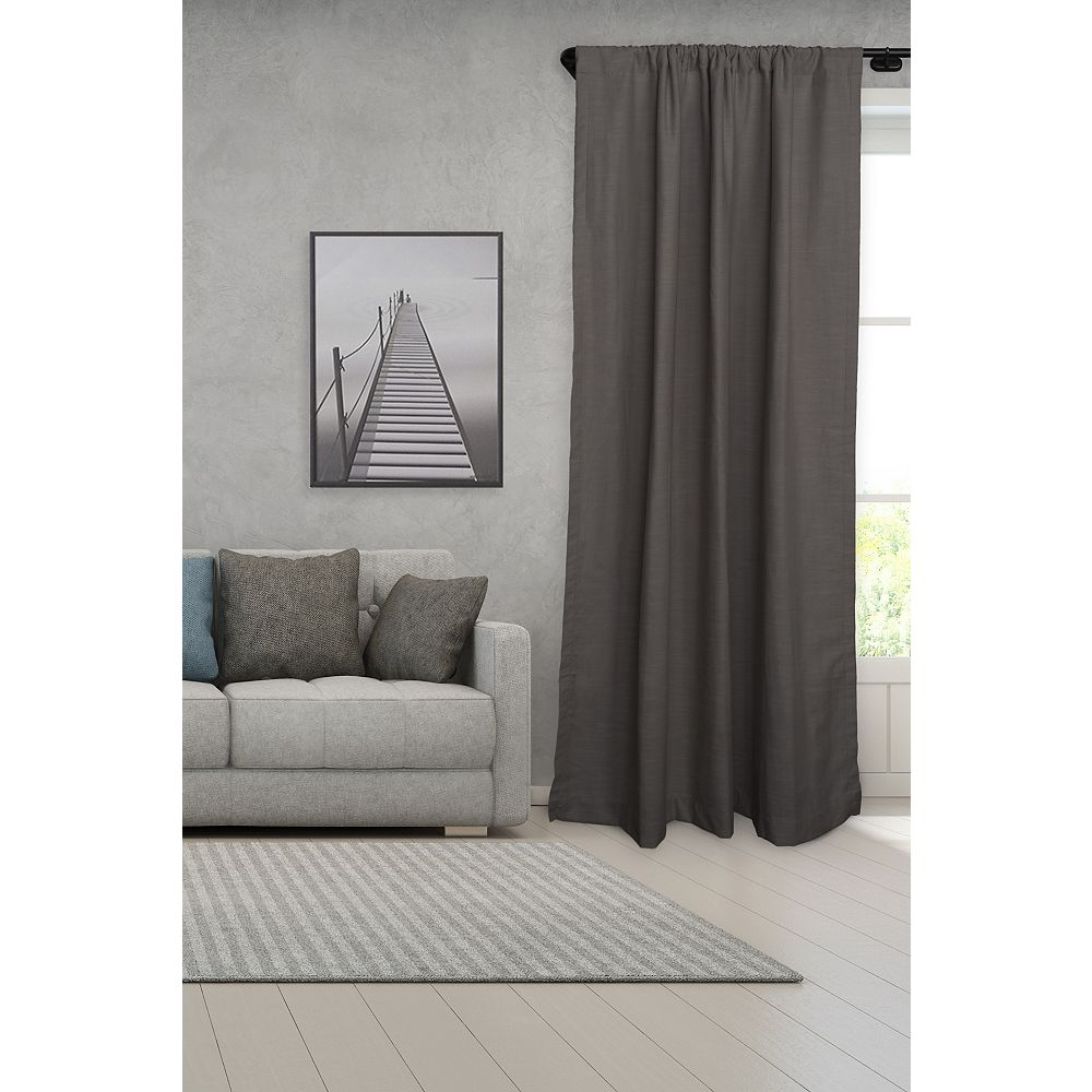 Single Curtain Rod Set, Black Curtain Rods Wrap Around