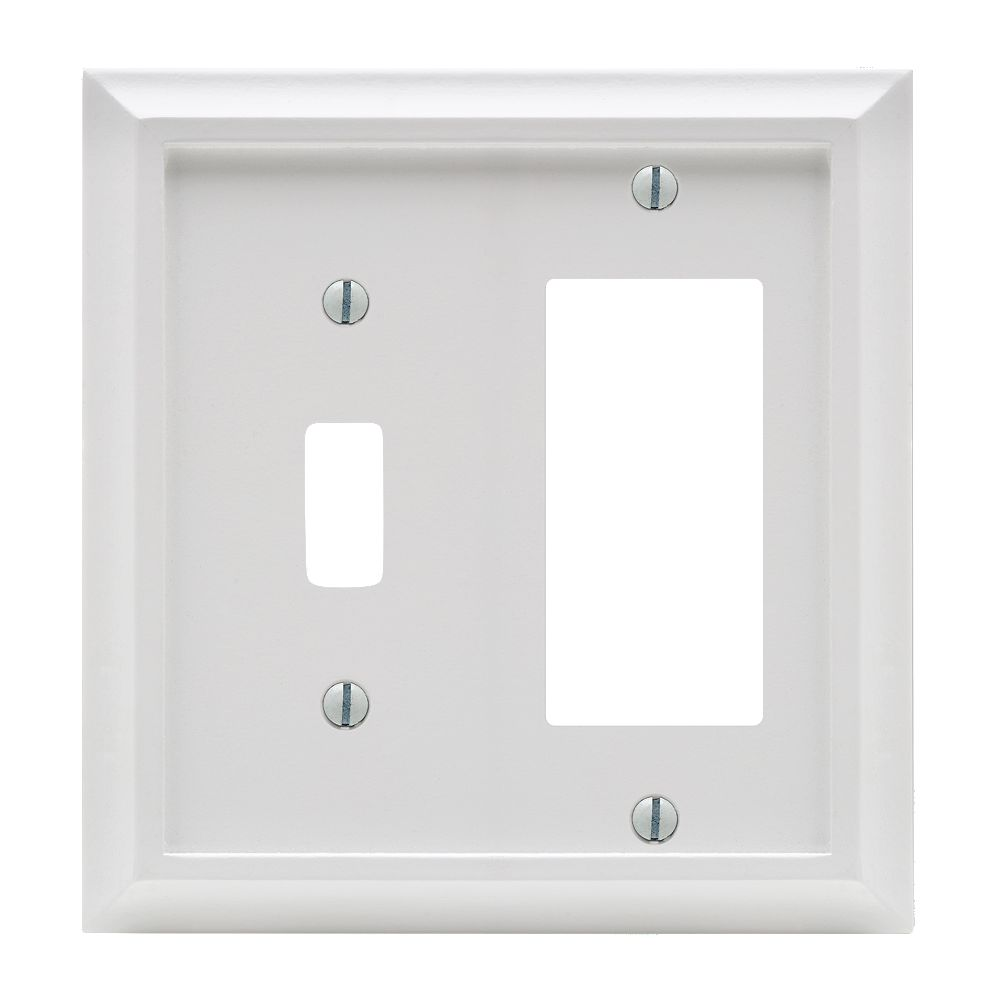 Amerelle Deerfield 1 Toggle 1 Décor Wall Plate White Wood