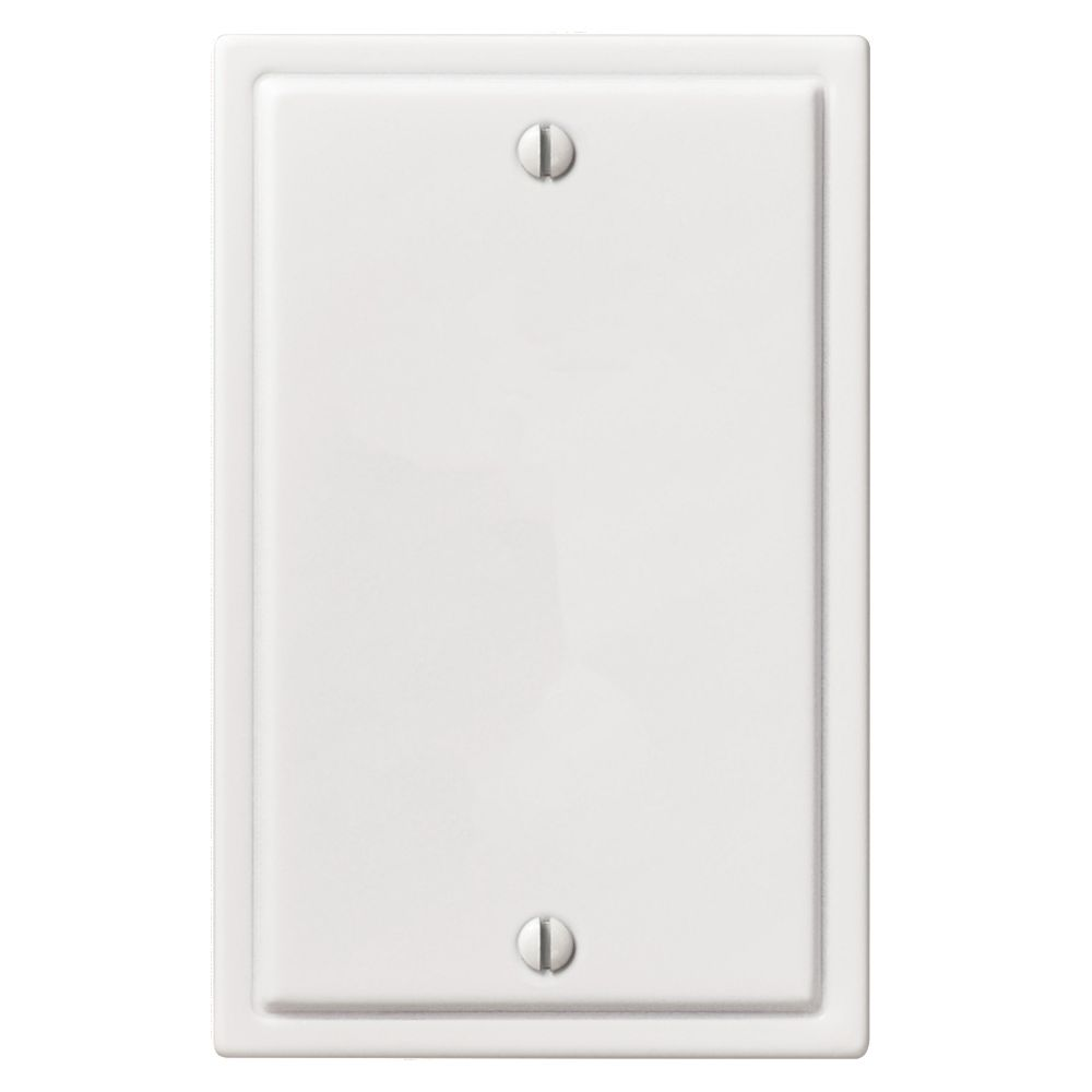 Amerelle Moderne 1 Blank Wall Plate White Steel