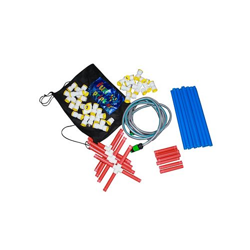 Funphix Small Sprinklers Set with Poles and Hose for Outdoor Water Fun