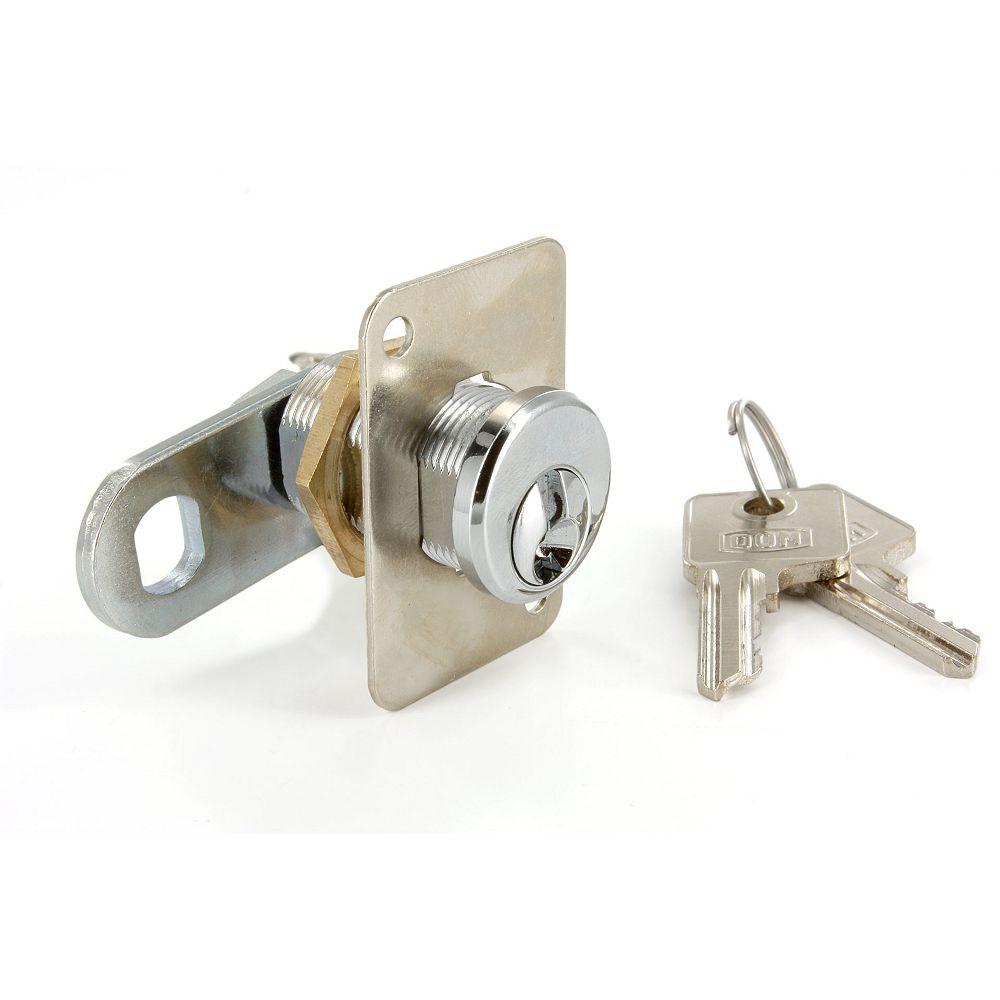 Richelieu Serrure à came de 3/4 po (19 mm) pour épaisseur de panneau max de 29/32 po (23 mm), Chrome