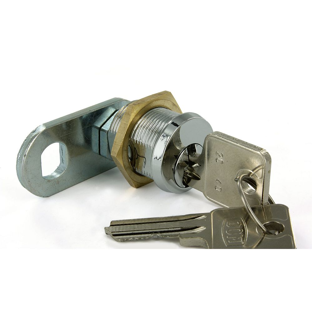 Richelieu 3/4 in (19.1 mm) Cam Lock for max 19/32 in (15 mm) Panel Thickness - Chrome
