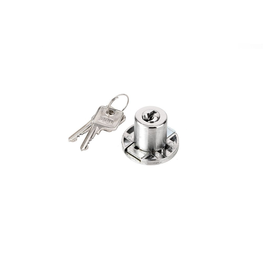 Richelieu 29/32 in (23 mm) Drawer Lock for max 29/32 in (23 mm) Panel Thickness - Chrome