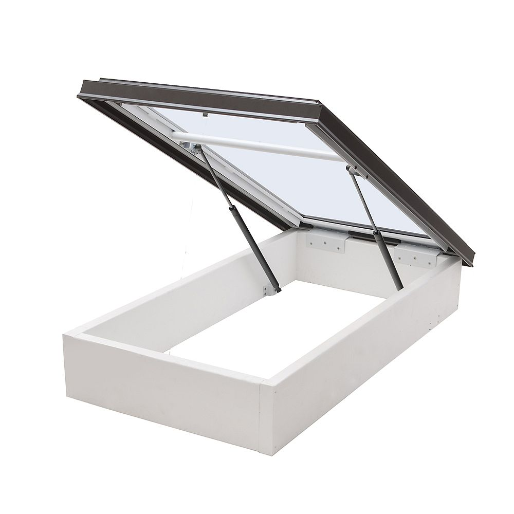 Columbia Skylights 3ft x 3ft Double Glazed LoE3 Clear Glass Roof Access Hatch in Brown Frame