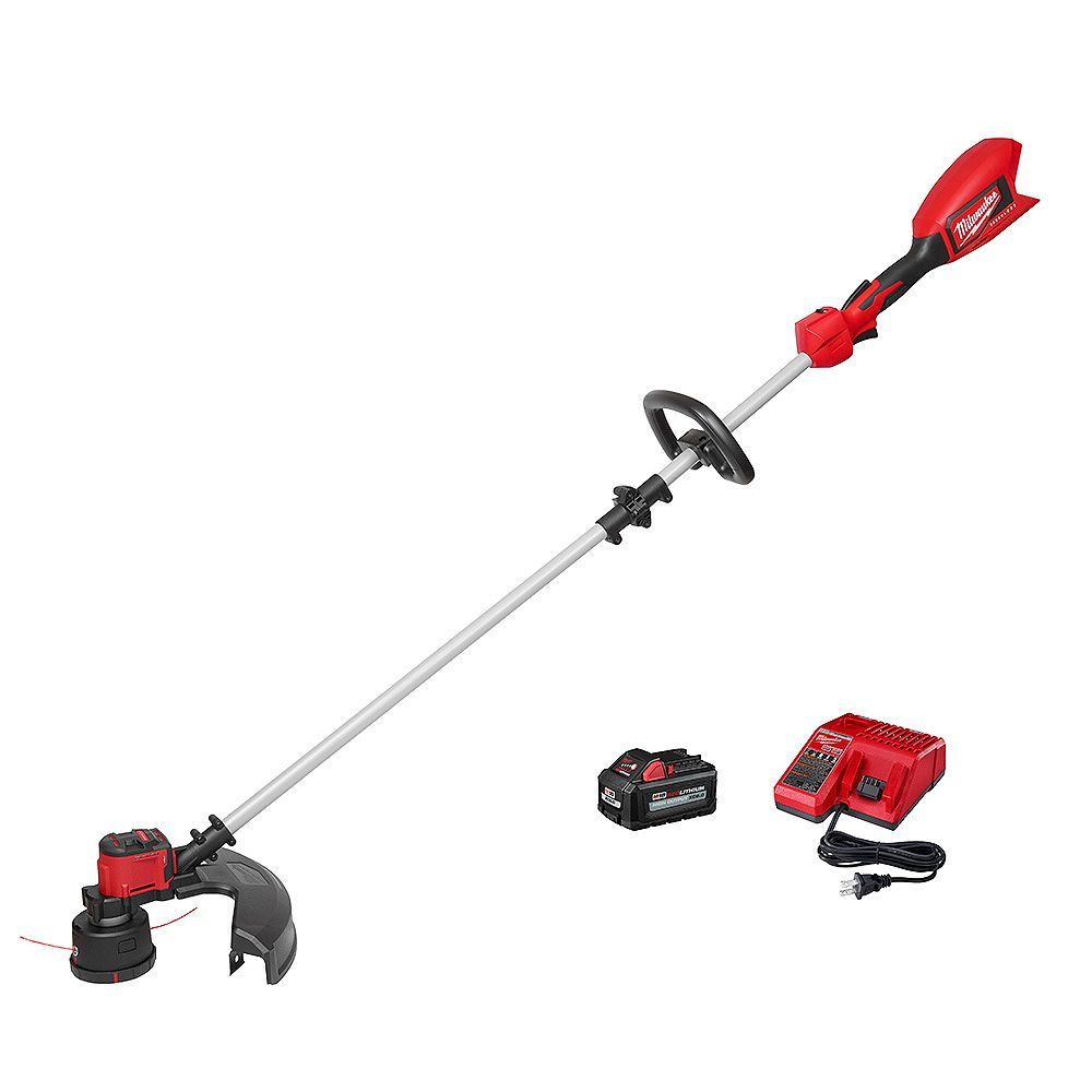 Milwaukee Tool M18 18V Lithium-Ion Brushless Cordless String Trimmer Kit with 6.0 Ah Battery and Charger 2828-21