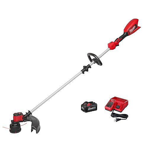 M18 18V Lithium-Ion Brushless Cordless String Trimmer Kit with 6.0 Ah Battery and Charger