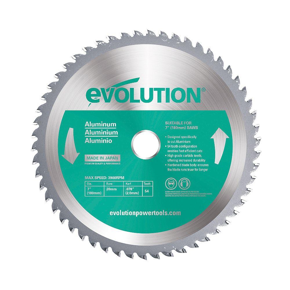 Evolution Power Tools 7 inch 54-Teeth Aluminum Cutting Saw Blade
