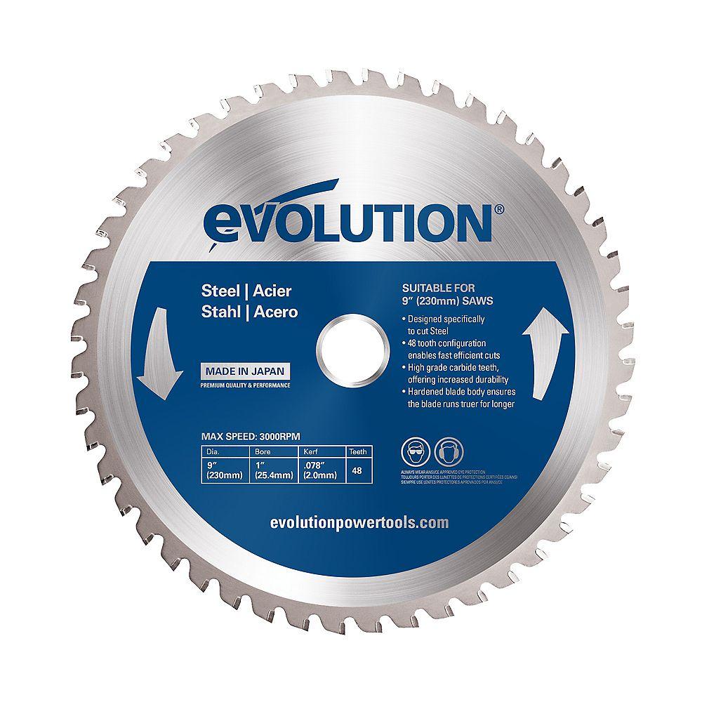 Evolution Power Tools 9 inch 48-Teeth Mild Steel Cutting Saw Blade