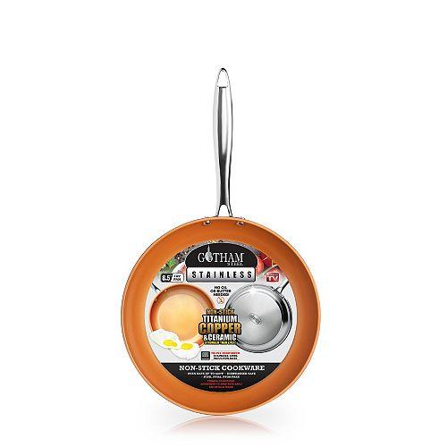 8.5 in. Stainless Steel Non-Stick Ti-Cerama Frying Pan