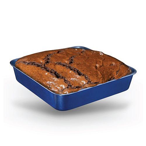 Moule à gâteau carré Blue Pro  9 pouces 0.8MM d'épaisseur infusé de diamant et minéraux antiadhésif