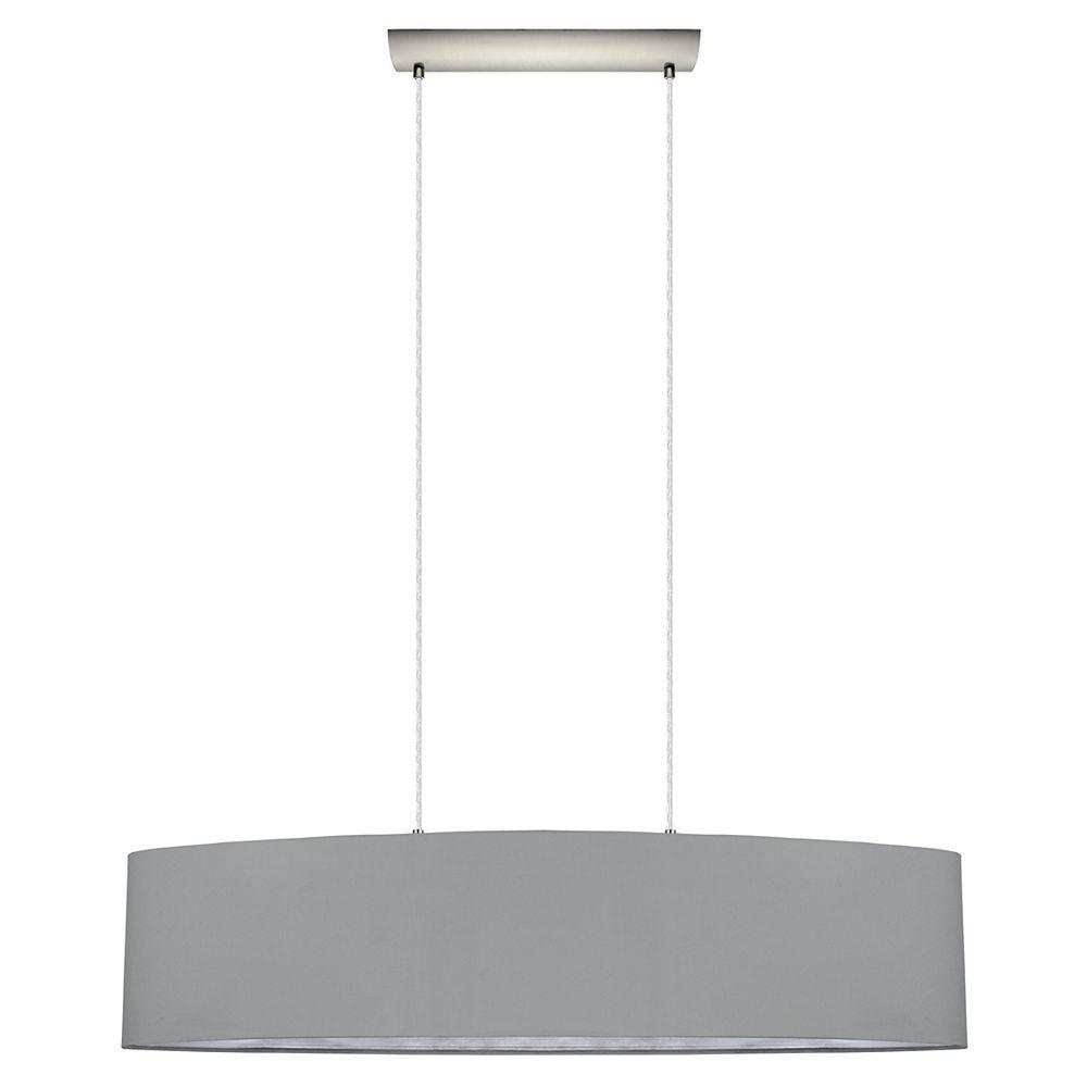 Eglo Maserlo 2-Light Pendant, Silver and Satin Nickel