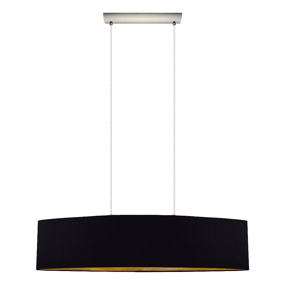 Eglo Maserlo 2-Light Pendant, Black/Gold and Satin Nickel